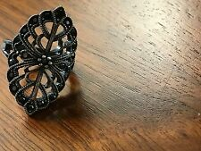 Ladies Sterling Silver Marcasite Ring~Size 8
