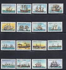 SIERRA LEONE 1984 SHIPS Scott 639-52 plus 2 hi-vals Sc 739-40 VF MNH