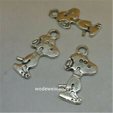 15pc Retro Tibetan Silver DOG Charm Beads Pendant Jewellery Making  JP737