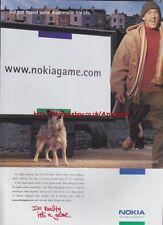 """Nokia """"www.nokiagame.com"""" 2000 Magazine Advert #2370"""