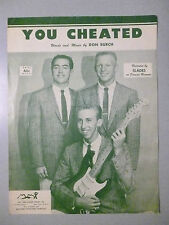 YOU CHEATED Sheet Music SLADES 1958 Pop #42 Hit Doo-Wop ONLY charted song LISTEN