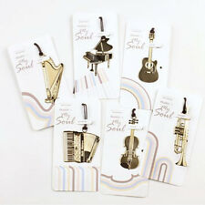 Metal Bookmark Musial Piano Guitar Bookmark for Book Creative Gift Stationery JB