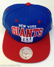 NFL New York Giants Mitchell and Ness Plain Adjustable Snapback Hat Cap M&N
