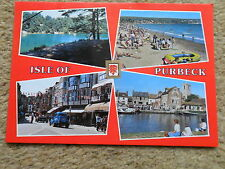 POSTCARD.DORSET.ISLE OF PURBECK. MULTI-VIEW   (SEE OLD CARS.).UNUSED.