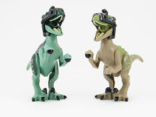 LEGO Jurassic World Lot of 2 Dinosaur Raptor Minifigures Dino Blue Delta