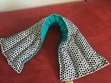 SALE 21x6''rice heat pad hot / cold shoulder neck wrap pack  Dots Teal Back