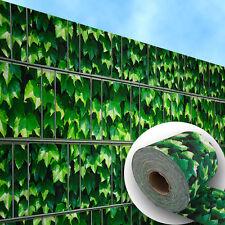 Weinblatt grün – Doppelstabmattenzaun Sichtschutz bedruckte Sichtschutzstreifen