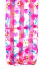 SCARF Bright Colors On Fuchsia Pink Background DRAGONFLIES IN FLIGHT