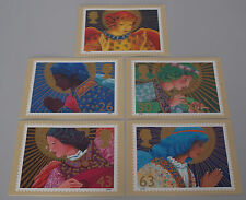 1998 Christmas Angels Set of 5 PHQ 202 cards with Stamps FDI/SHS