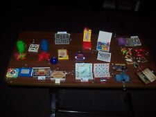 23 Board Game & Toy Keychains All Complete Includes Lite Brite, Mouse Trap, etc