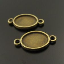 **15pcs Vintage Bronze Alloy Oval Cameo Setting 14*10mm Pendant Connector 38021