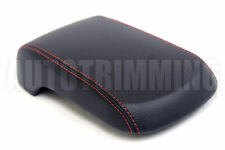 Armrest Cover for 08-16 Mitsubishi Lancer Vinyl Center Console with Red Stitch