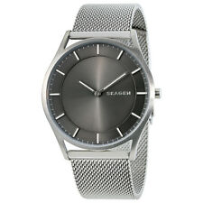 Skagen Holst Slim Gray Dial Mens Stainless Steel Mesh Watch SKW6239
