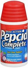 Pepcid Complete Chewable Tablets Berry Flavor 50 Tablets (Pack of 5)