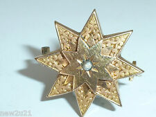 Art Nouveau French Fix 18ct gold filled Snowflake Star Brooch Pin