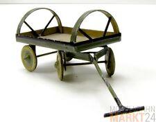 Blech Spielzeug alt Handwagen mit beweg. Zuggabel und Rädern