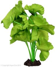 Aqua One A1-24262 Silk Plant Tiger Lotus Green 20cm For Freshwater Aquarium