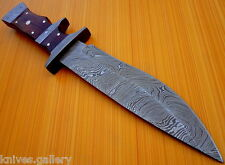 "CUSTOM DAMASCUS STEEL HUNTING BOWIE KNIFE / SWORD / DAGGER / SUB-HILT MINT 12""L"