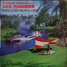 THE FINGERS A TOUTE VITESSE BOAT BIKINI WATER SKIING COVER RARE 25 CM FRENCH LP