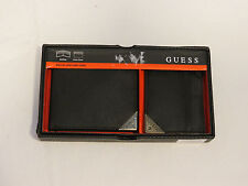 Guess 32G03300001 Wallet W/ CC black Bifold ID Mens wallet & card case 2 Pc