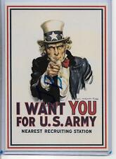 WW2 ERA POSTER ART POSTCARD,UNCLE SAM-I WANT YOU FOR U.S. ARMY RECRUITING 2015