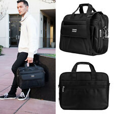 "16"" Business Travel Carrying Case School Laptop Briefcase Shoulder Messenger Bag"