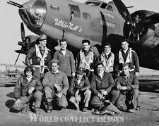 USAAF WW2 B-17 Bomber Wilder Nell Crew II 8x10 Nose Art Photo 379th BG WWII