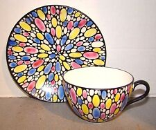 Shelley China Bubbles Deco Cup & Saucer