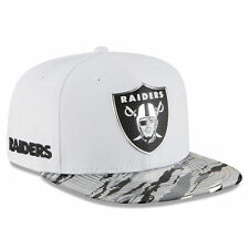 OAKLAND RAIDERS 2016 NEW ERA 9FIFTY WHITE COLOR RUSH ON FIELD SNAPBACK HAT CAP
