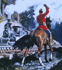 Canadian Mountie RCMP print, Arnold Friberg Horse, Train 2