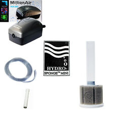 Hydro Sponge Filter Mini, Aquarium Filter/Air Pump Combination, includes tubing