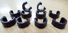 10x MTB Road Cycle Hose Clips for Disc Brakes Outer Cable Frame Guides Plastic C