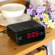 Black Digital FM Alarm Clock Radio with Dual Alarm Snooze Sleep Time Function