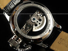 SALE New 14214 Phantom Russian Diver Automatic Rose Bezel Leather See Thru Watch