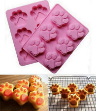 WH Cat Dog Paw Shape Silicone Bakeware Mold Chocolate Cookie Candy Baking Mould