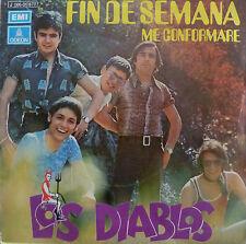 """7"""" 1971 SPANISH PRESS! LOS DIABLOS Fin De Semana /VG++"""