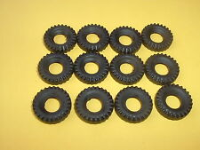 12 NEW DINKY 18MM BLACK CHUNKY REPLACEMENT TYRES