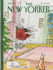 DEC 13 2010 NEW YORKER vintage magazine - SANTA COMING DOWN CHIMNEY