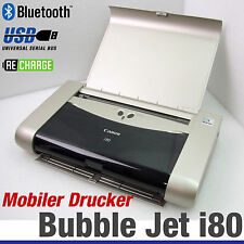 Impresora móviles canon bubble jet i80 Wireless Bluetooth IrDA batería All Windows