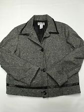 Womens PENDLETON Gray Vintage Lined Wool Blazer Jacket Sz 10 USA MADE