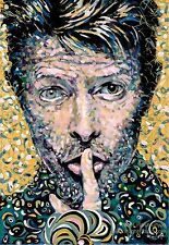 David Bowie singer/songwriter oil on canvas from artist art Image picture