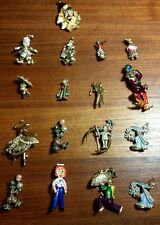 Lot of 17 vintage figural rhinestone brooches clown raggedy Andy dancers