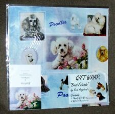 POODLE - Gift Wrapping Paper w/matching Gift Card by Maystead