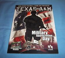 Texas A&M vs Army Football Game Program Magazine 2008