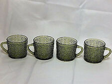 Set of 4 Anchor Hocking Avocado Green Soreno Punch or Snack Cups