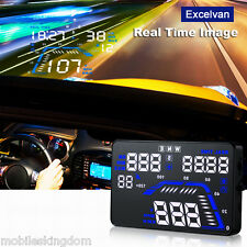 Q7 HUD 5.5'' Car GPS Head Up Display Windscreen Projector Speed Fuel Warning UK