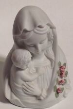 Bisque Figurine Lefton Virgin Mary Jesus Mother & Child Madonna