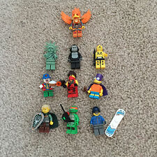 LEGO MINFIGURE CRASH TEST DUMMY GORILLA ELF SNOWBOARDER CLOWN LADY LIBERTY X10