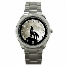 NEW* HOT WOLF FULL MOON Quality Sport Metal Wrist Watch Gift