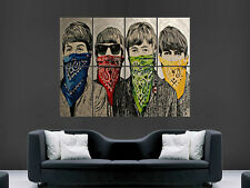 BANKSY STREET GRAFFITI ART THE BEATLES  WALL POSTER  PICTURE PRINT LARGE HUGE